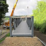Steel Bridge section in place ready for secure fixing.
