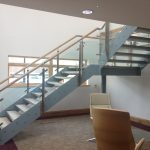 New staircase in modern offices.