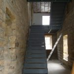 Barn conversion steel stair case and Landing.
