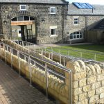 Ramp walkway railing systems at a local Barnsley care home.