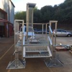 Galvanised access ladder & walkway